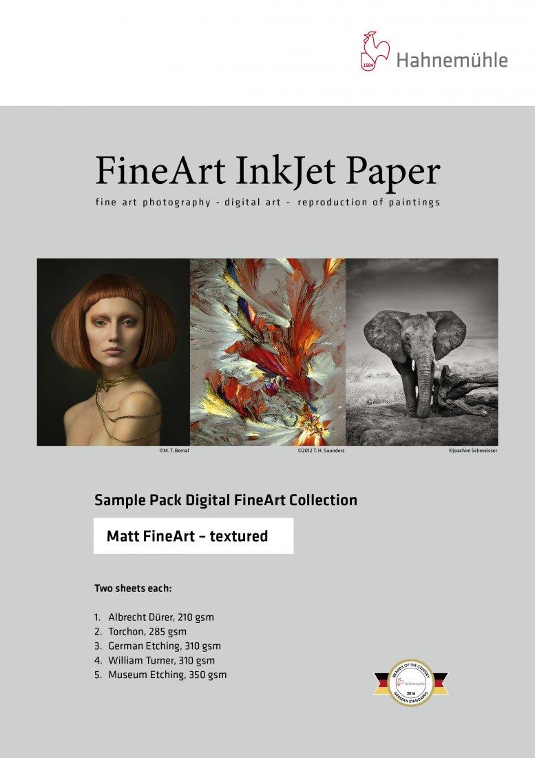 Hahnemühle Musterset – Matt Fine Art textured