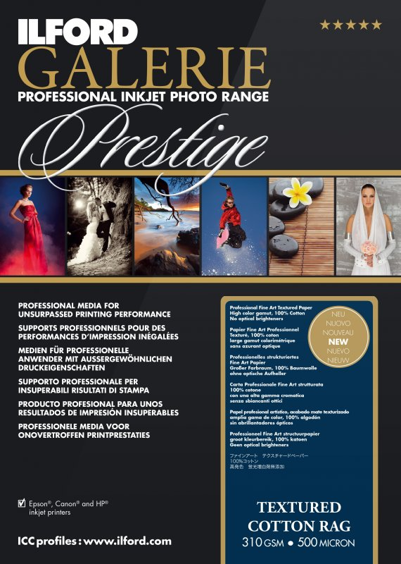 Hauptbild von Ilford GALERIE - Prestige Textured Cotton Rag 310 g/m²