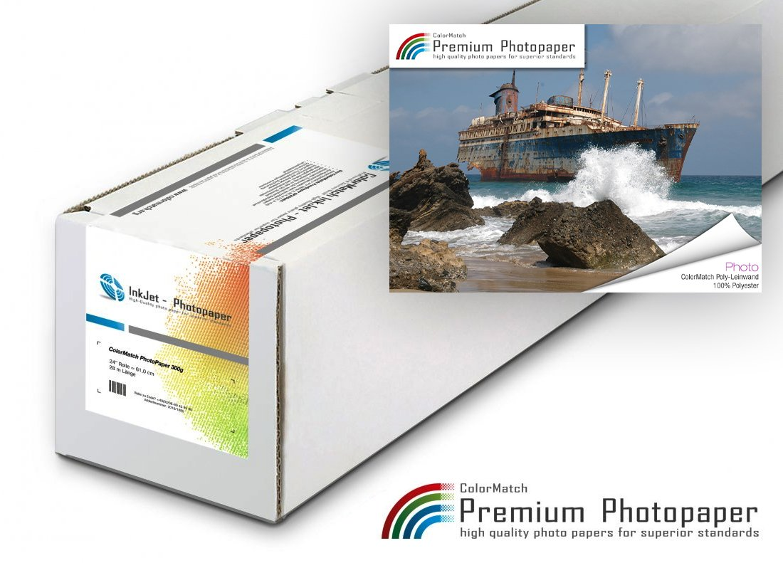 Hauptbild von ColorMatch Poly-Leinwand 100% Polyester 260g/18m