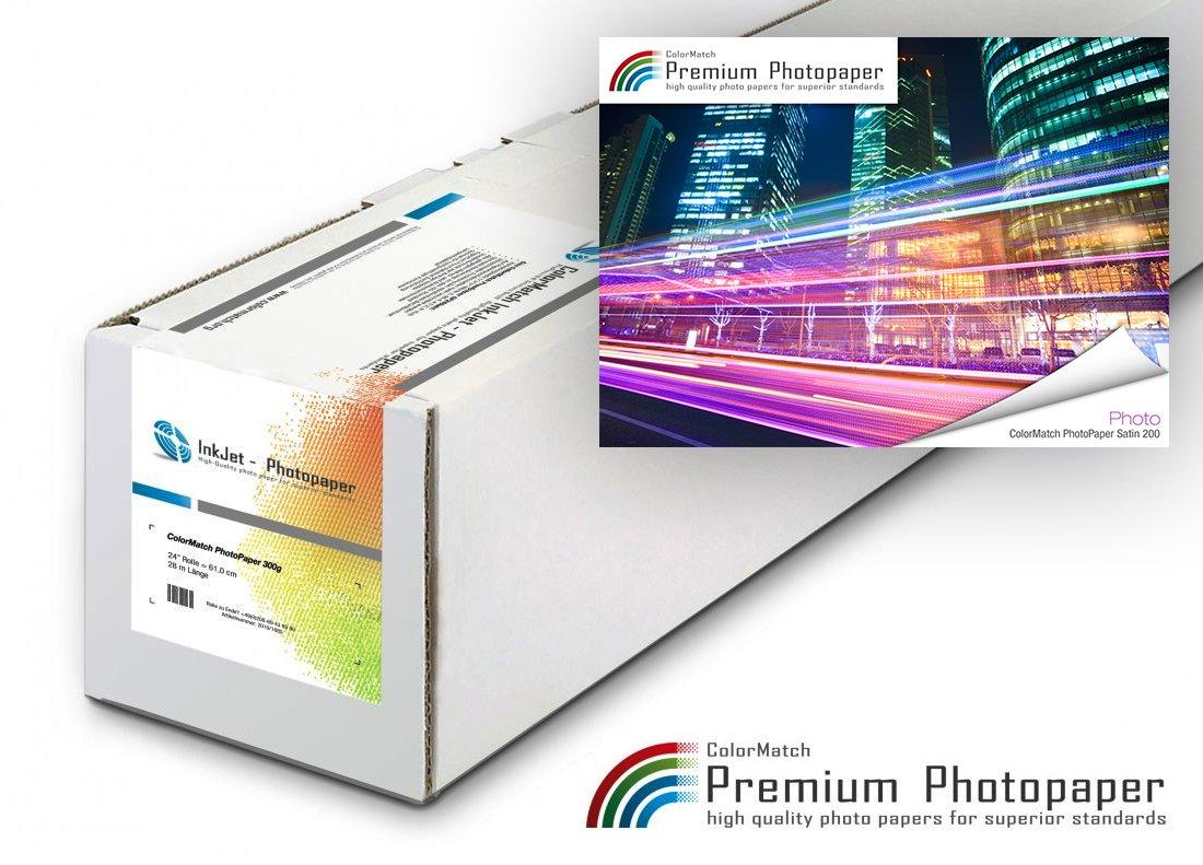 Hauptbild von ColorMatch PhotoPaper Satin 200g/30m