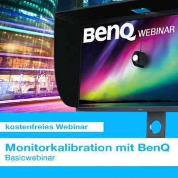 Kostenfreies Webinar Monitorkalibration mit BenQ