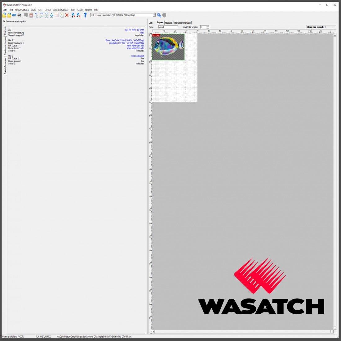 Hauptbild von ColorMatch DTF WASATCH SOFTRIP DTF-EDITION