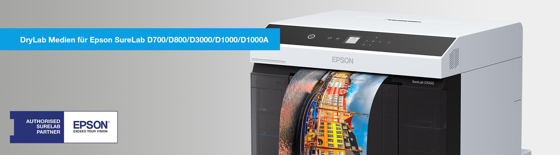 DryLab Medien für Epson SureLab D700/D3000, Fuji sowie Noritsu Drylabs. />