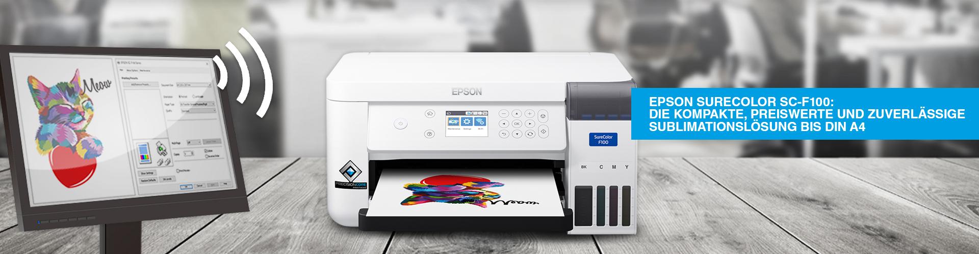 Epson Surecolor SC-F100, Epson Surecolor SC-F500 />