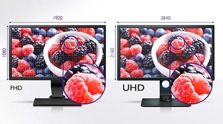 BenQ SW271 4k UHD-Auflösung für atemberaubende Details und präzises Bearbeiten.