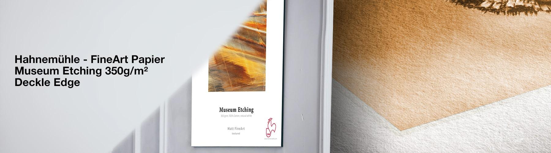 Hahneühle FineArt Papier - Museum Etching 350g/m² Deckle Edge