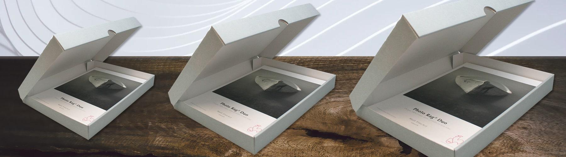 Hahnemühle Archivboxen und Portfolioboxen in DIN A4, DIN A3 und DIN A3+ (Plus).