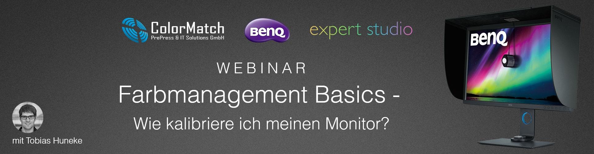 Webinar Farbmanagement Basics - Wie kalibriere ich meinen Monitor?