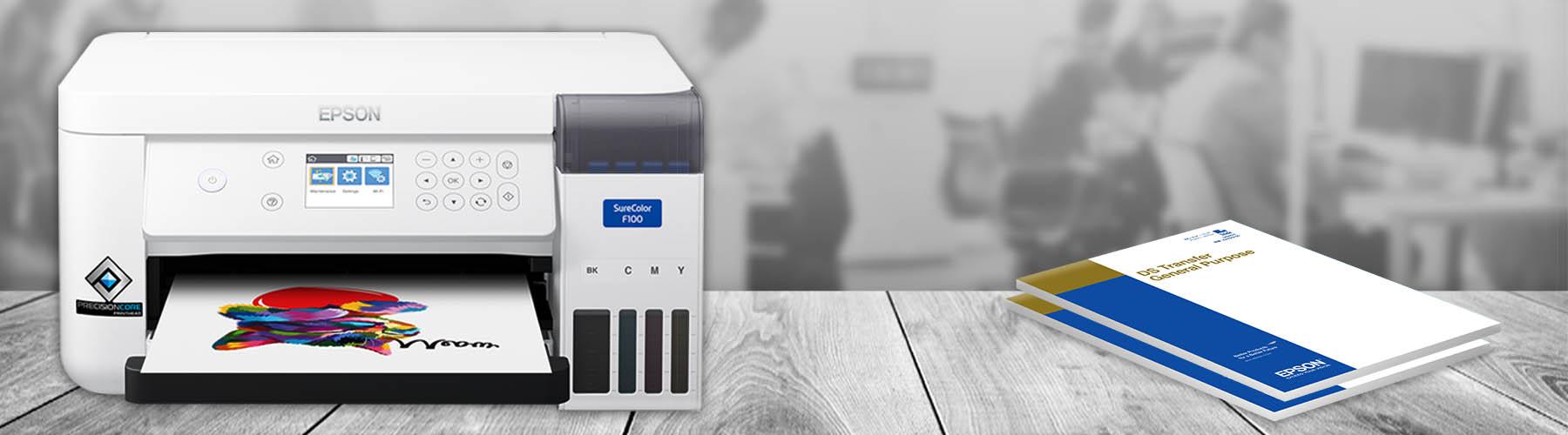 Epson SC-F100 Starter-Set (Einführungsset) inklusive Epson DS-Transfer-Vielzweckpapier, Blattware, 100 Blatt.