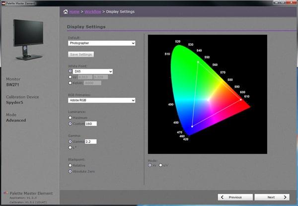 Verbindliche Farbwiedergabe mit Palette Master Element und zur Anpassung der Farbleistung.
