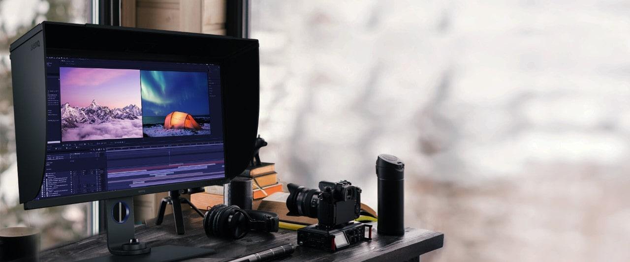 Der perfekte Monitor für Videobearbeitung - der BenQ Monitor SW271C